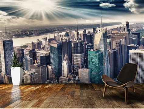 wallpaper store manhattan aliexpress buy custom photo wallpaper the manhattan landscape murals for