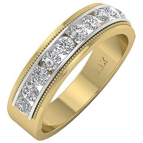 mens wedding ring band vs1 f 1 10ct genuine diamond 14k