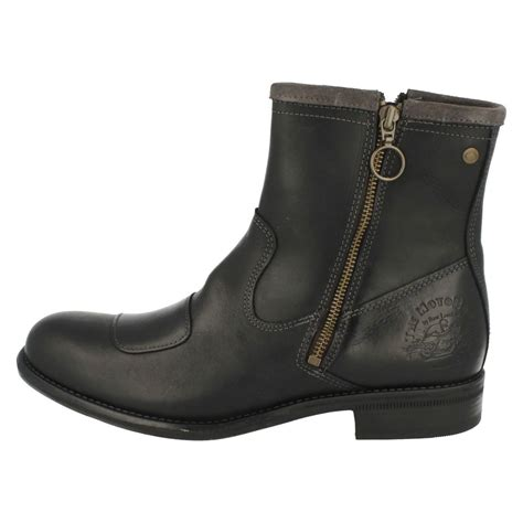 mens base brown taupe zip up casual ankle boots