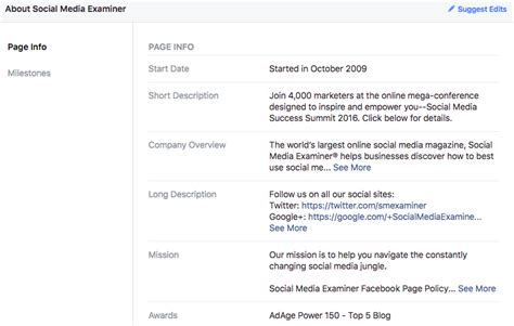 facebook business page about section how to start your facebook business page sprout social
