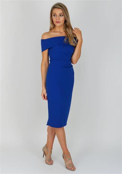 Carolin Blus caroline kilkenny colette bardot dress blue mcelhinneys