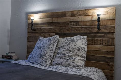 pallet headboard for bed t 234 te de lit pallet bed headboard 1001 pallets