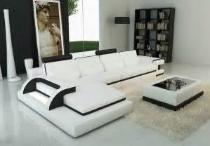 Modern Living Room Sofas Beige Leather Sectional Sofa Design For Modern Living Room With White Wood Coffee Table
