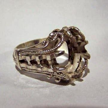 Gagang Cincin Batu Akik gagang cincin emban dari bahan alpaka koleksi batu cincin
