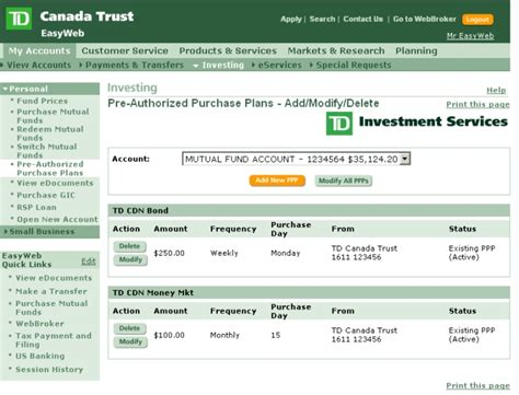td easyweb mobile td canada trust personal and small business banking html