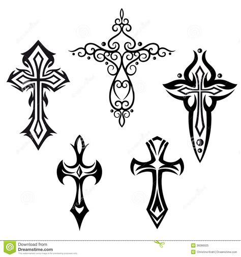 crosses crucifix stock vector illustration of emblem