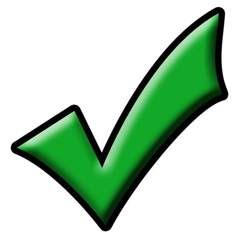 No Background Check Green Checkmark Cliparts Co