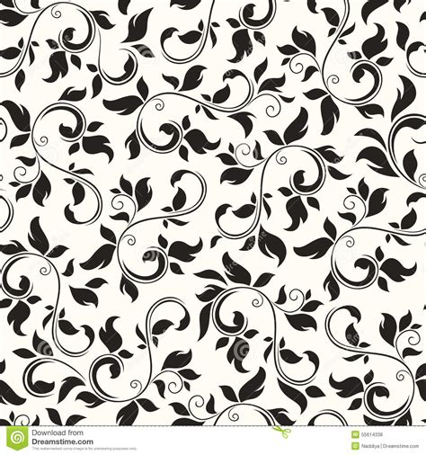 black and white floral pattern vector seamless black and white floral pattern vector