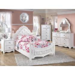 Kids Bedroom Furniture Set by Signature Design By Ashley Exquisite Four Poster