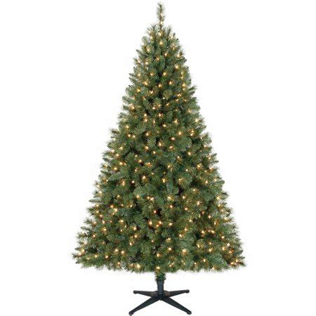 walmart fresh christmas trees time pre lit 6 5 windham tree green clear lights walmart