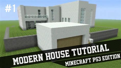house builder design guide minecraft modern house tutorial minecraft ps3 1 youtube