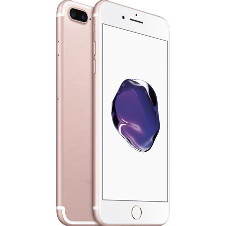 refurbished apple iphone 7 plus 256gb gsm unlocked smartphone gold walmart