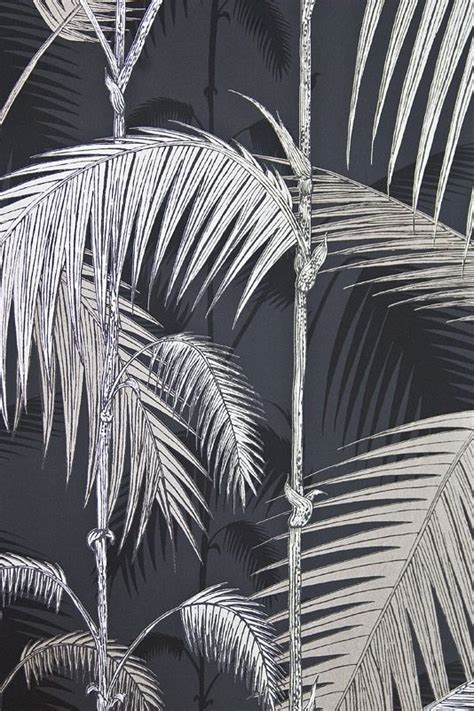 black and white jungle wallpaper palm jungle wallpaper contemporary illustrated palm tree