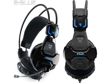 Headset Eblue Cobra 707 e 3lue e blue cobra hs707 blue light pro gaming headsets microphone for gamer msn skype