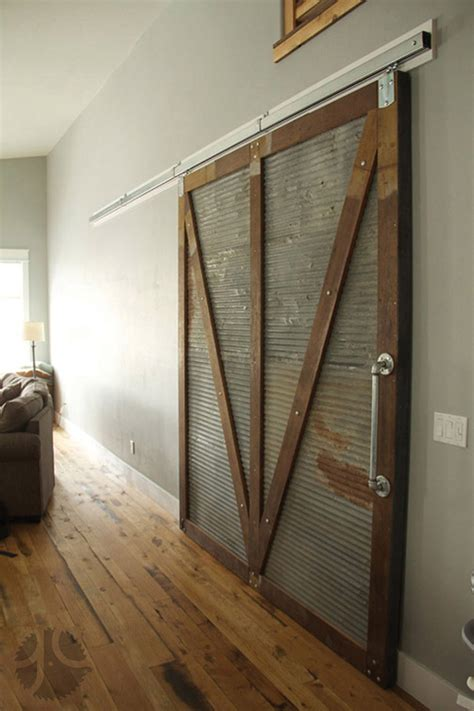 Sliding Barn Door Home Decor Reclaimed Wood Corrugated Reclaimed Sliding Barn Doors