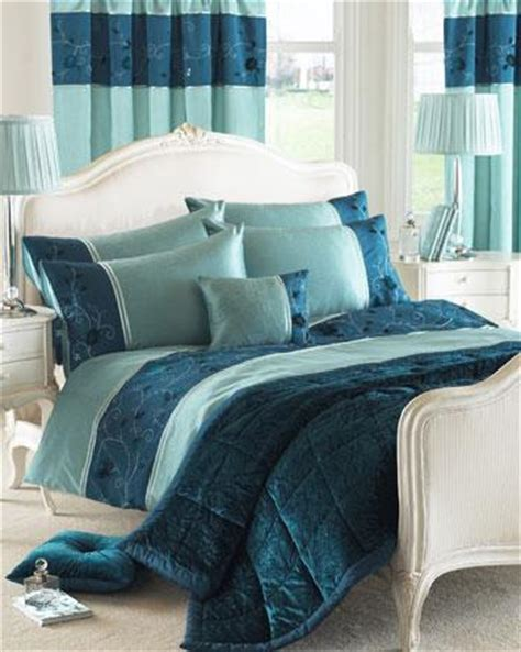 teal bed linen uk valencia embroidered duvet cover teal free uk delivery