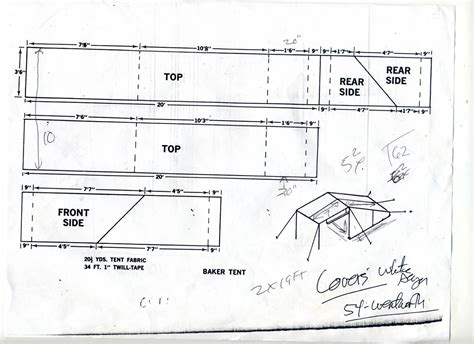 Camper Trailer Floor Plans bwca wcd baker tent with plans boundary waters gear forum