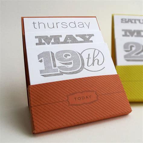 Letterpress Desk Calendar by Letterpress Perpetual Desk Calendar By Orange Beautiful