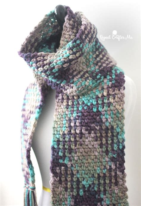 color pattern crochet crochet planned color pooling scarf repeat crafter me