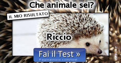 risultato test risultato test animale sei riccio