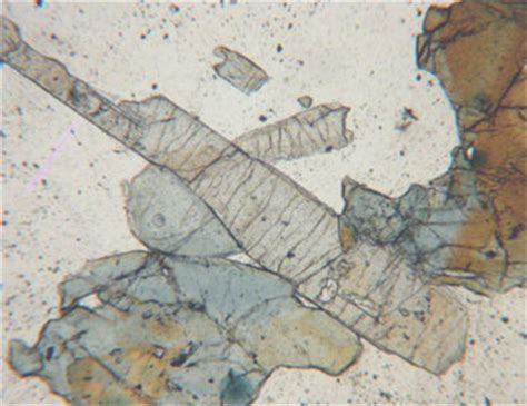 tourmaline in thin section tourmaline