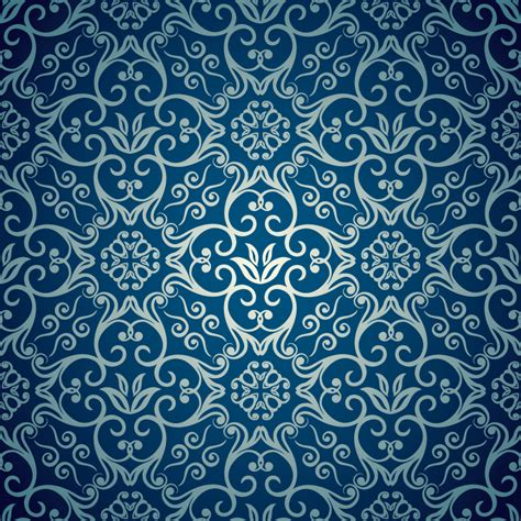 Blue Elegant Pattern | beautiful blue background vector material beautiful blue