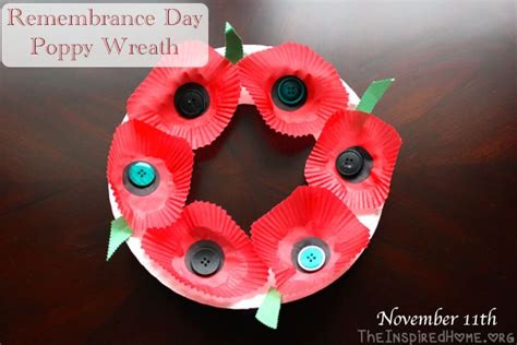 remembrance day crafts for remembrance day poppy wreath craft craft and poppy wreath