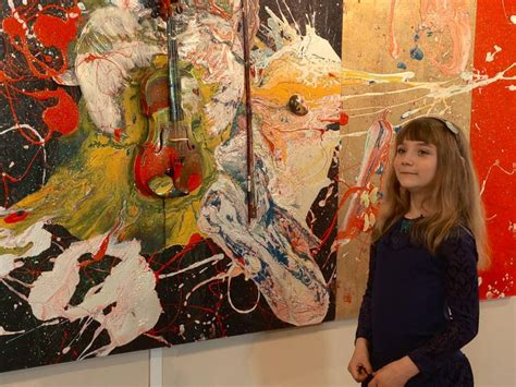 painting 9 year aelita andre 9 year abstract painter opens show