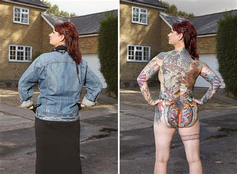 Tattoo Healing Under Clothes | photographer exposes the tattooed people reckon talk