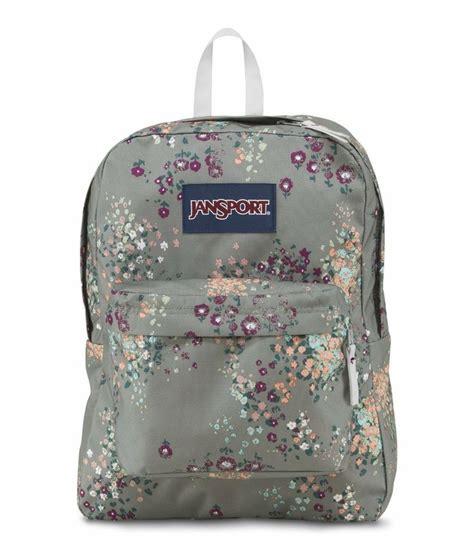 Ransel Mini Jansport Black Flower floral jansport backpack backpacks eru