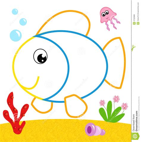 color picture fish to be color royalty free stock image image 27329886