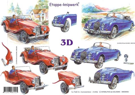 Decoupage Car - fast car 3d decoupage sheet