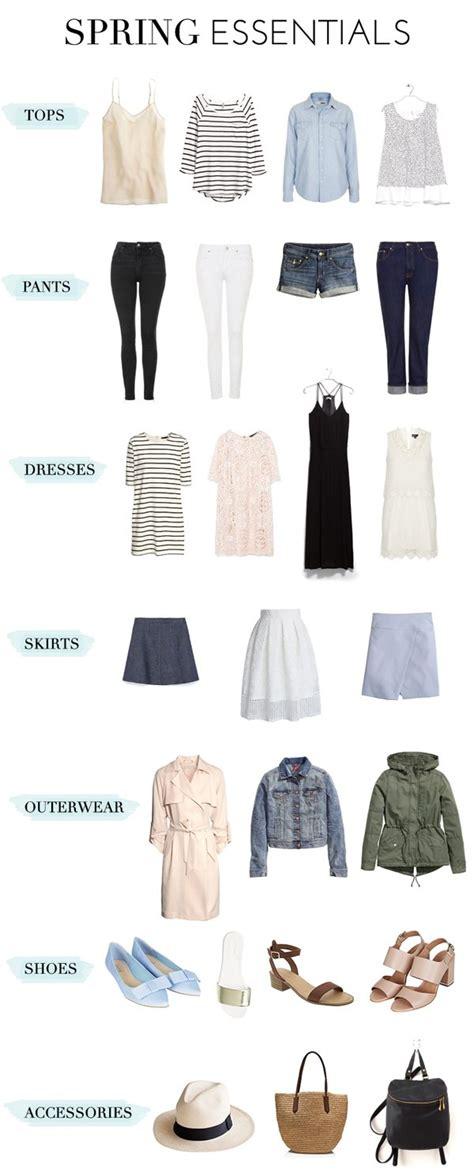 wardrobe essentials spring wardrobe essentials glitter guide