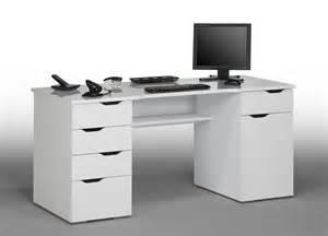 bureau informatique design laqu 233 blanc claudelle bureau