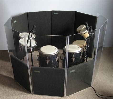 Acrylic Drum Shield make some isolators percussion isolation drum shields