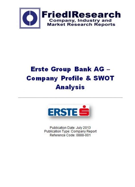 estre bank erste bank ag swot analysis company report
