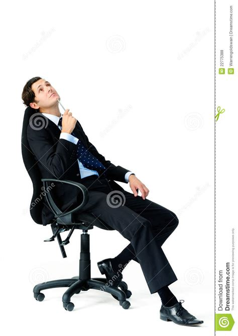 Leaning Back In Chair by Taking A Leaning Back On Chair Royalty Free Stock
