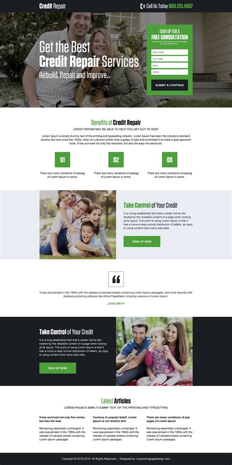 Credit Repair Business Website Template Best Selling Credit Repair Html Landing Page Design Template Website Templates