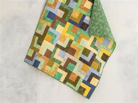 cornerstone collage rainforest expand  quilt kit  krystal jakelwicz featuring boundless