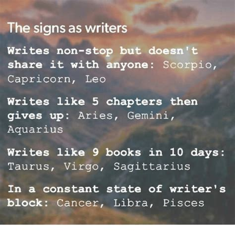 gemini keeps capricorn signs of books the signs as writers writes non stop but doesn t it