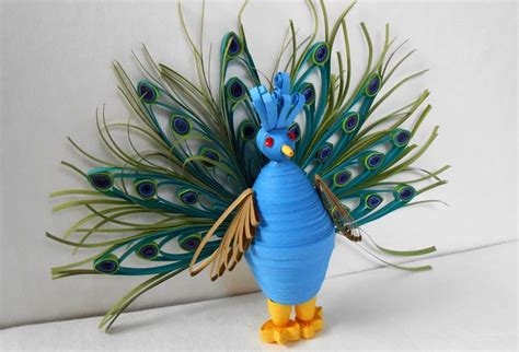 paper quilling birds tutorial how to make 3d quilled peacock bird miniature used many