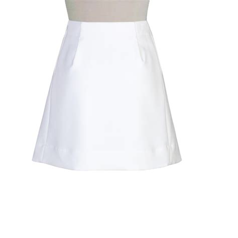 white cotton a line skirt elizabeth s custom skirts