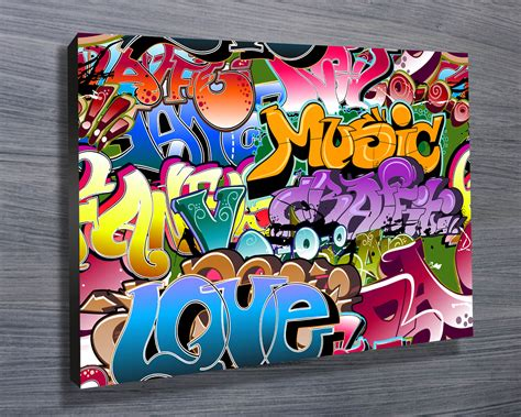 graffiti canvas paintings