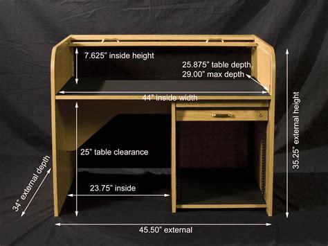 roll top desk dimensions whitevan