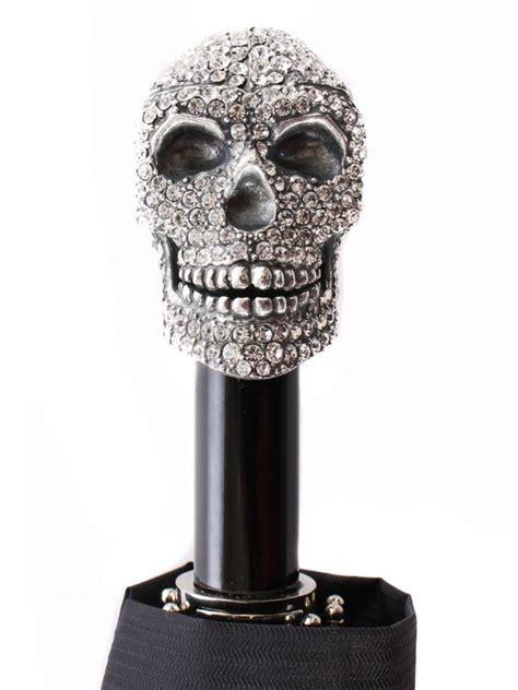 skull pattern umbrella romeo swarovski skull umbrella by remo tulliani style