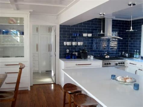 blue kitchen tile backsplash pops of blue in every room ideas inspiration