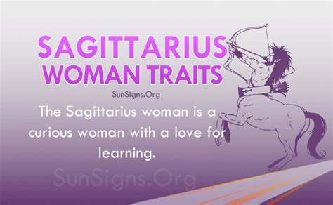 sagittarius woman personality traits characteristics