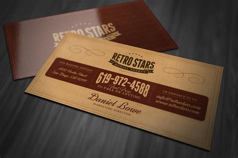 retro business card template vintage or retro business card business card templates