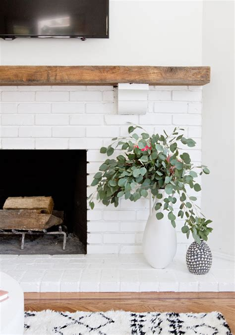 modern brick fireplace get inspired the diy white brick fireplace glitter inc