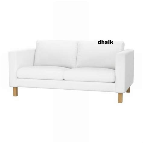 white slipcovered sofa ikea ikea karlstad 2 seat loveseat sofa slipcover cover